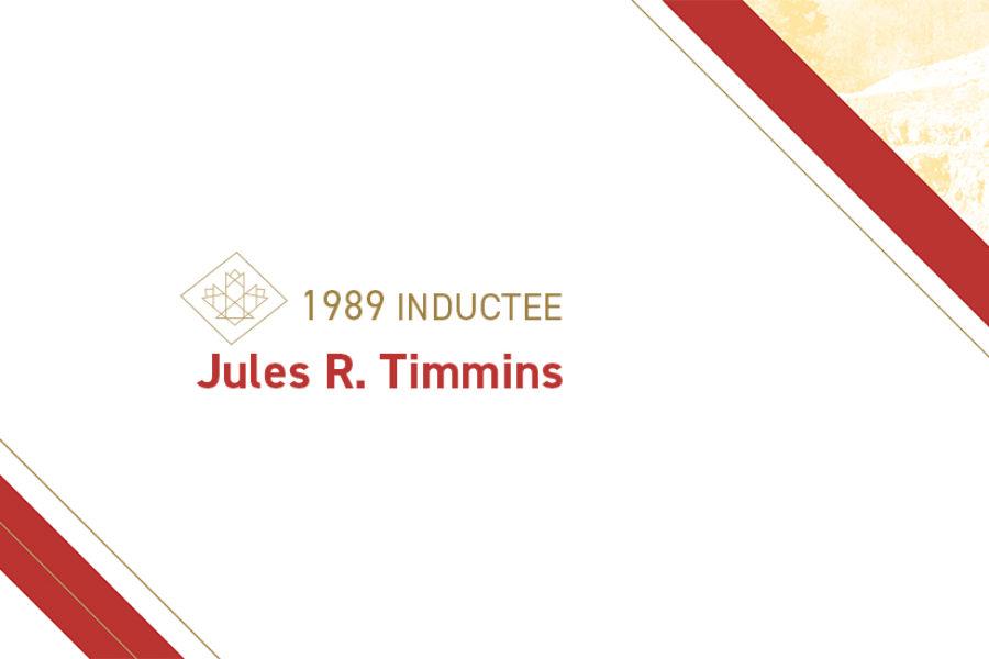 Jules R. Timmins (1889 – 1971)