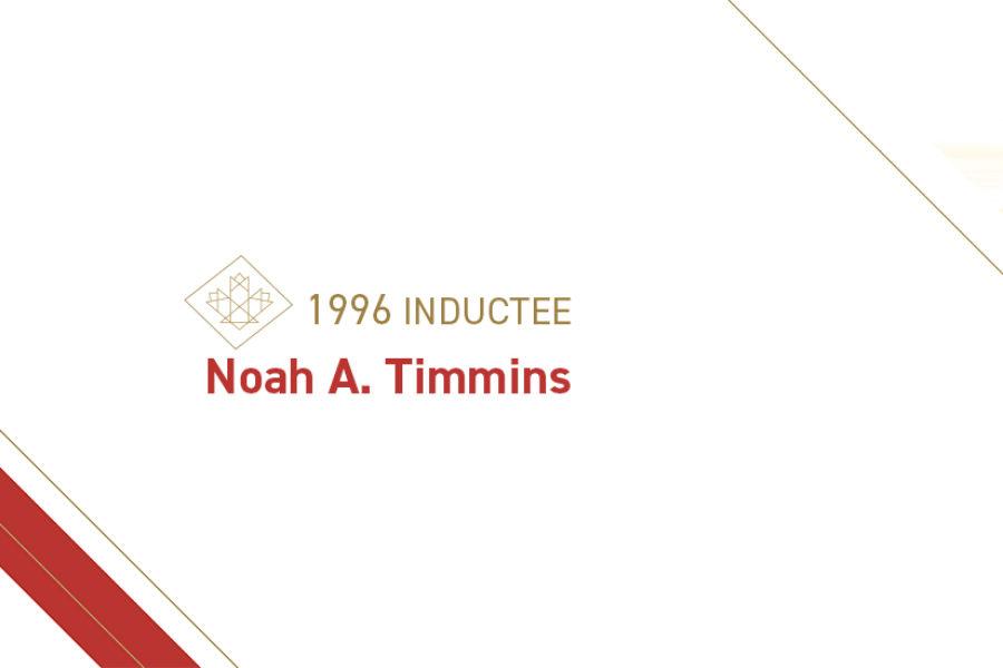 Noah A. Timmins (1867 – 1936)